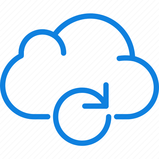 cloud, communication, essential, interaction, sync icon