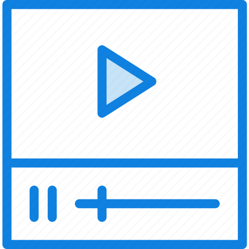 clip, communication, essential, interaction, video icon
