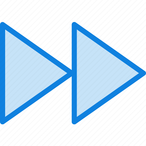 communication, essential, fast, forward, interaction icon
