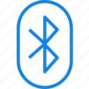 communication, interaction, essential, bluetooth icon