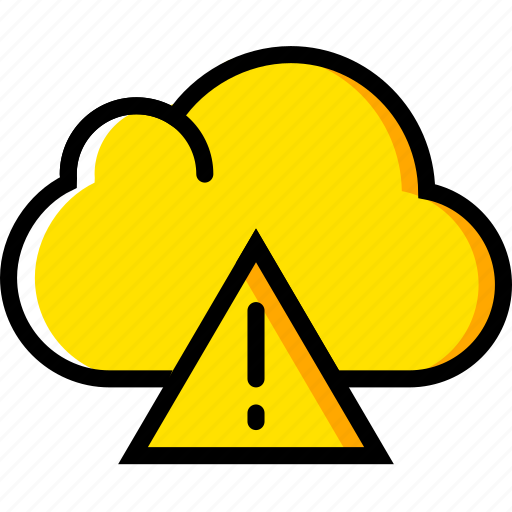 cloud, communication, essential, interaction, warning icon
