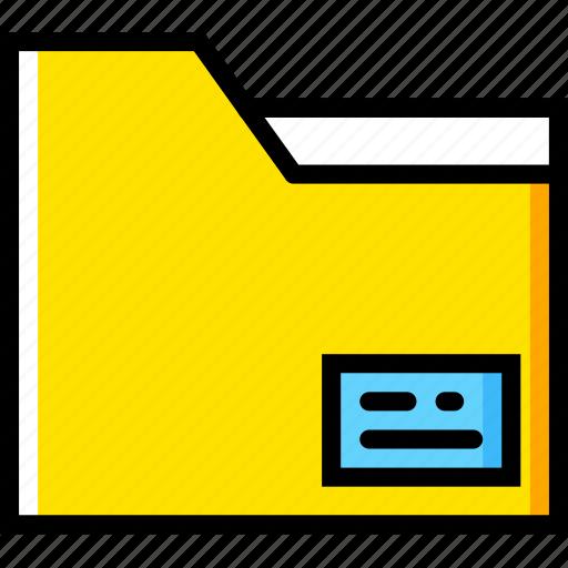 communication, essential, folder, interaction icon
