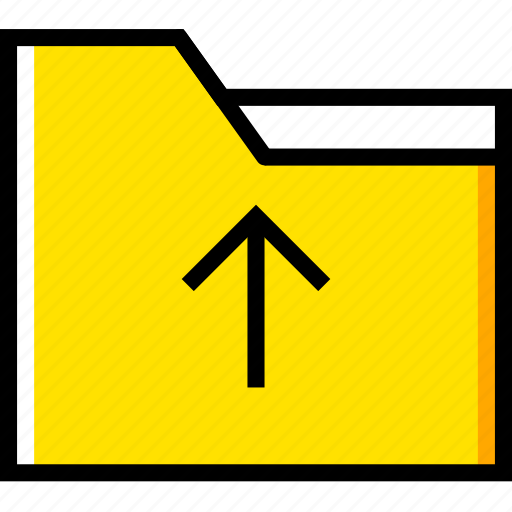 communication, essential, folder, interaction, upload icon