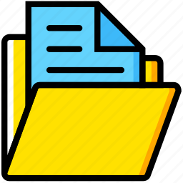 communication, document, essential, folder, interaction icon