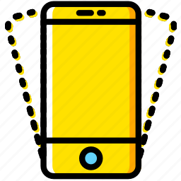 communication, essential, interaction, phone, vibration icon