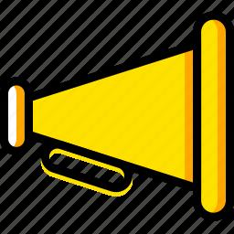 communication, essential, interaction, megaphone icon