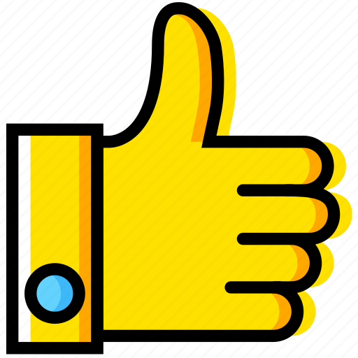 communication, essential, interaction, thumbs, up icon