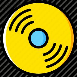 album, cd, communication, essential, interaction icon