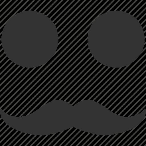 emoticon, emotion, face, gentleman, mustache, smile, smiley icon