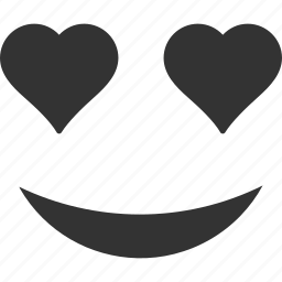 emoticon, emotion, face, favorite, love, smile, smiley icon