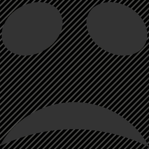 emote, emoticon, emotion, face, sad, smile, smiley icon