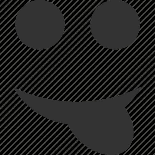 emoticon, emotion, face, smile, smiley, talking, tongue icon