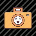 cheerful, digital, emoji, emoticon, happy, photo camera, smile