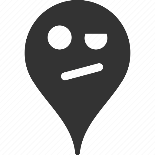 emoticon, emotion, infidelity, map marker, pointer, position, smile icon