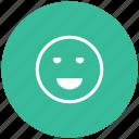 emoji, emotion, excellent, good, great, happy, laugh icon
