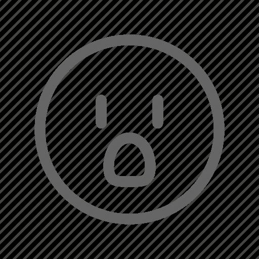 emoji, emoticon, shock, smiley, surprise, surprised, wow icon
