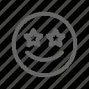 emoji, emoticon, smiley, star icon