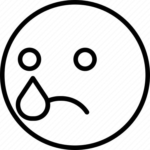crying, emoji, face, smiley icon