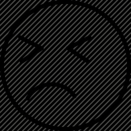 emoji, face, persevering, smiley icon