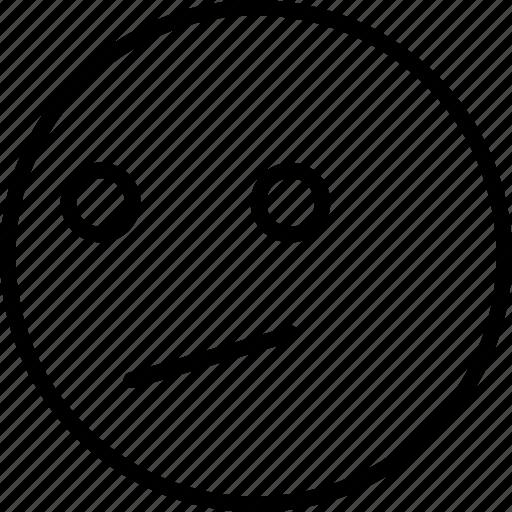emoji, face, smiley, smirking icon