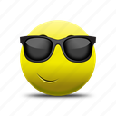 emoji, glasses face, sun glasses icon