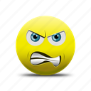 anger, angry, angry face, evil face icon