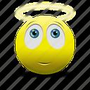 angel, angel face icon