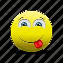 emoji, tongue, tongue out icon