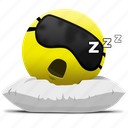 emoji, sleeping face, sleepy icon