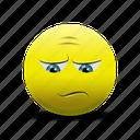 disappointed face, emoji, sad, sad face icon