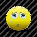 crying face, emoji, sad face icon
