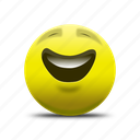emoji, happy face, laughing face, smile, smiling face icon