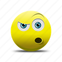 shocked face, surprised fase icon