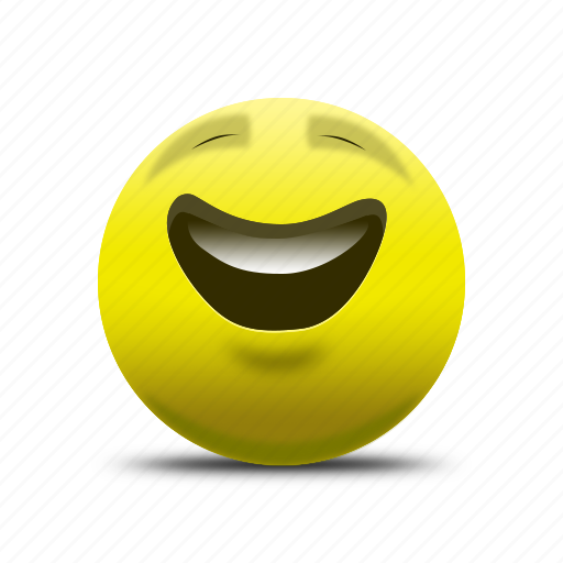 Emoji, happy face, laughing face, smile, smiling face icon | Icon ...