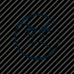 angry, avatar, emoji, emoticon, emoticons, emotion, evil icon