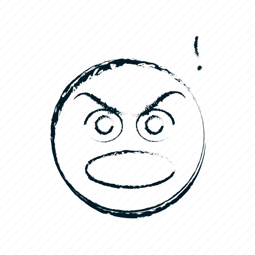 angry, avatar, emoticon, emoticons, emotion, evil, face, frown, frowning, hand drawn, head, menacing, negative, person, rampant, screaming, shouting, smile, smiley icon