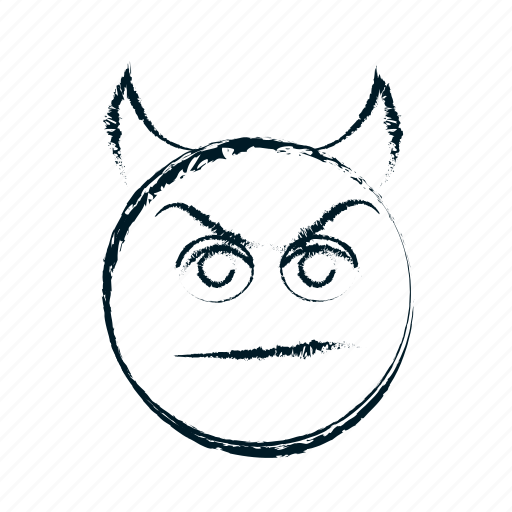 angry, avatar, demon, devil, emoticon, emoticons, emotion, evil, face, frown, frowning, hand drawn, head, imp, menacing, negative, person, rampant, smile, smiley icon