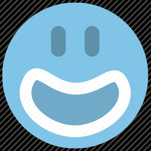 emotion, face, haha, happy, smiley icon