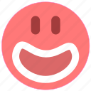 emotion, face, happy, smiley icon