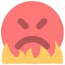 anger, emotion, fury, indignation, outrage, rage, wrath icon