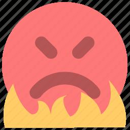 anger, emotion, fury, indignation, outrage, rage, wrath icon