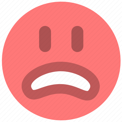 emotion, face, mad, no, smiley, unhappy, worried icon