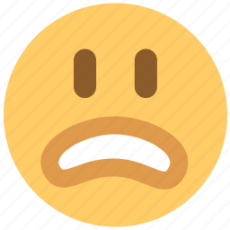 disappointed, no, surprised, unhappy, worried icon