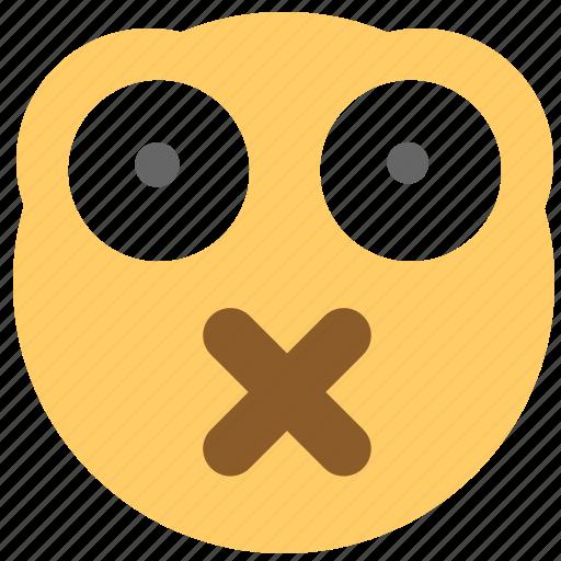 emotion, face, mask, shut up, smiley icon