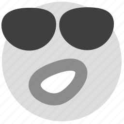 cool, emotion, face, smiley, sunglasses icon
