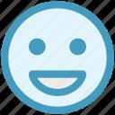 emoticon, expression, face, happy, laugh, smile, smiley icon