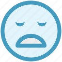 emoticon, emoticons, emotion, sad face, sadness, smile icon