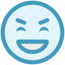 big grin, emoji, emoticons, expression, face smiley, laugh, smiley icon