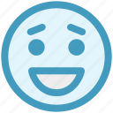 adoring, emoticons, expression, face smiley, happy, laughing, smiley icon