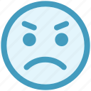 angry, angry face, emoticons, expression, gaze emoticon, smiley, stare emoticon icon